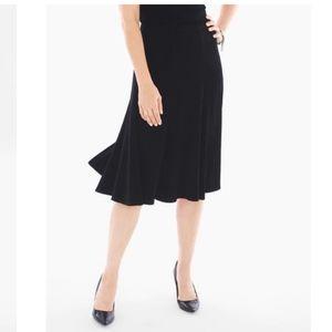 Chico's Women's Flare Skirt Elastic Waist